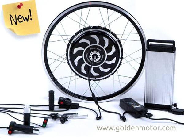 Bike Conversion Kits, Hub Motor, Magic Pie Edge, LiFePO4 Battery