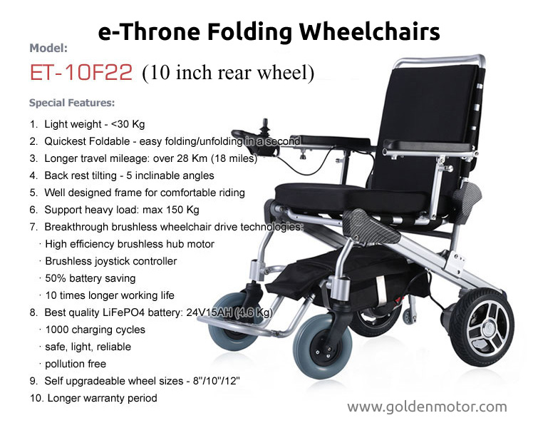 Portable Electric Wheelchair Folding Electric Wheelchair