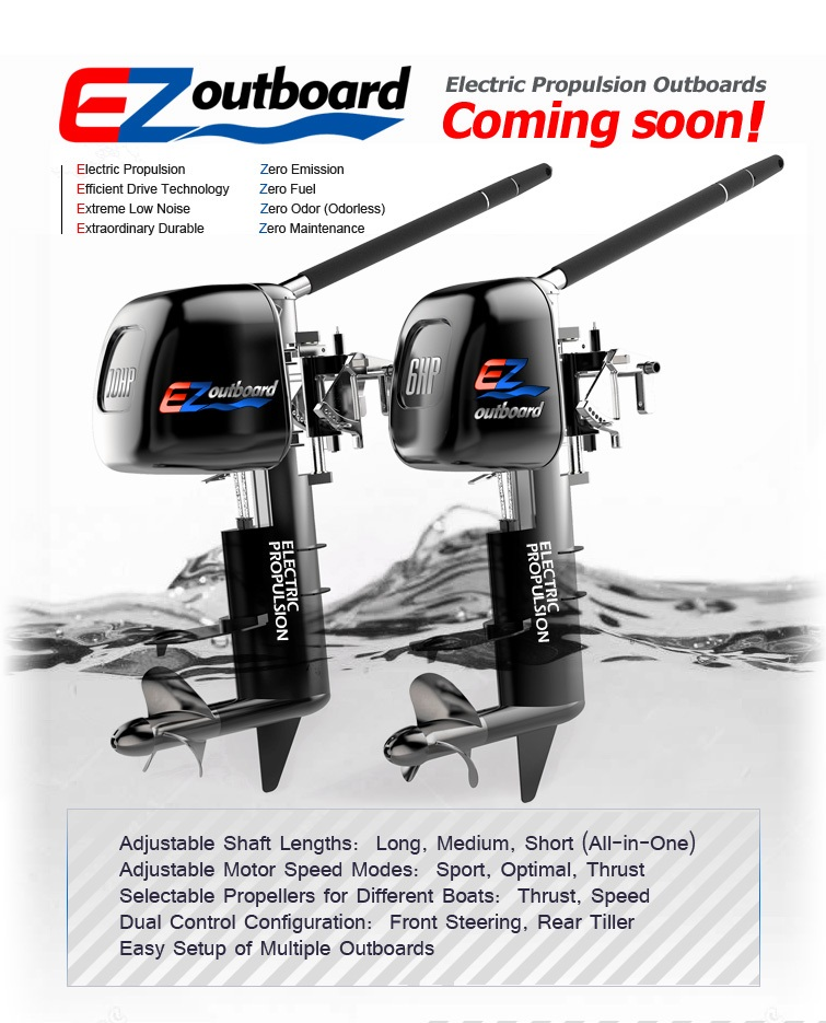 Electric Outboard Motor Kit: Electric Propulsion Outboard, EZoutboard, EZ-Outboard