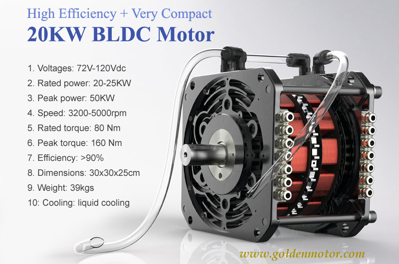 brushless motor, bldc motor, electric car motor, 20KW electric car motor, 20KW BLDC Motor